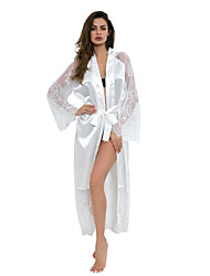 cheap -Bride Robes Super Sexy Solid Colored Daily Wear Lace Chemises & Gowns