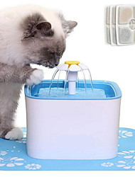 cheap -Cat Water Fountain, Flower Drinking Fountain Pet Water Dispenser Super Quiet, Healthy and Hygienic Drinking Bowl with Fresh Clean Water for Cats, Puppies (Light Blue)
