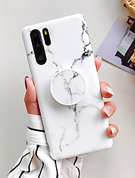 cheap -Phone Case For Huawei P20 P20 Pro P20 Lite Nova 3e Nova 3i Mate 20 Mate 20 Lite Mate 20 Pro P30 P30 Pro P30 Lite Nova 4e with Stand Frosted Pattern Back Cover Marble
