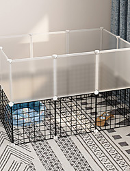 cheap -Dog Playpen Play House Fence Systems Foldable Washable Durable Free Standing Plastic Metal Black 20