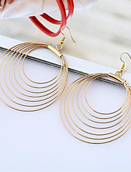 cheap -Women's Hoop Earrings Geometrical Fashion Stylish Earrings Jewelry Gold / Silver For