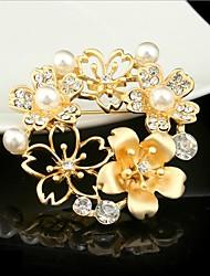 Недорогие -броши из циркония женские классические сова стильные простые классические брошь ювелирные изделия золото серебро для вечеринки подарок повседневная работа фестиваль