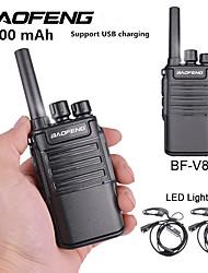 Недорогие -Baofeng bf-v8 5800 мАч перезаряжаемый большой дальности 5 Вт двухстороннее радио рации 16-канальное портативное радио встроенный светодиодный фонарик микрофон с наушником