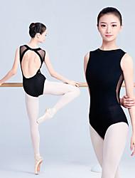 Недорогие -дети 'одежда для танцев / гимнастика купальники для женщин / для девочек' тренировка / спортивные хлопчатобумажные купальники без рукавов / onesie
