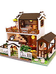 cheap -Dollhouse Creative DIY Parent-Child Interaction Furniture House Wooden Wood Classic Kid's Boys' Girls' Toy Gift