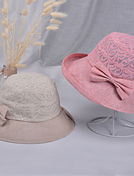 cheap -Hiking Hat Fishing Hat Fisherman Hat Hat 1 PCS Portable Sunscreen UV Resistant Breathable Patchwork Cotton Autumn / Fall Spring Summer for Women's Camping / Hiking Hunting Fishing Purple Khaki