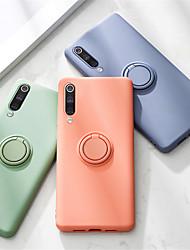 cheap -Phone Case For Xiaomi Back Cover Silicone Xiaomi Mi 10 Xiaomi Mi 10Pro Ring Holder Solid Color Silicone Metal