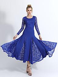 Недорогие -платья для бальных танцев платье сплит совместное с длинным рукавом кружева / молочные волокна платье 2020