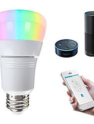 cheap -1pc 7 W LED Smart Bulbs 500 lm E26 / E27 22 LED Beads APP Control Smart Dimmable RGBW 85-265 V / RoHS