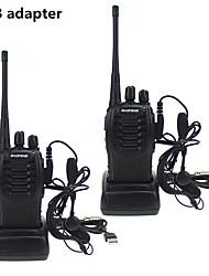 cheap -2PCS Baofeng BF-888S Walkie Talkie adaptador de carga USB porttil Radio CB Radio UHF 888S Comunicador transceptor  2 auriculares