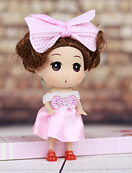 cheap -Mousse Curly Short Hair Little Girl Wearing Dress Spring Head ABS Doll Desktop Furnishing Article(Random Color,1PCS)