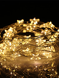 cheap -5M 50Led Star Starry Copper Wire String Lights Christmas Fairy Light Garland AA Battery Operated For Wedding Party Decoration (come without battery)