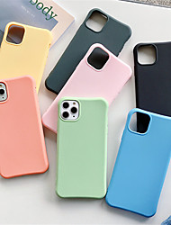 cheap -Case For Apple iPhone 11  11 Pro  11 Pro Max Four corners drop-resistant solid color TPU material Glossy Little Waist scratch proof phone case