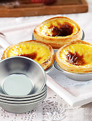 cheap -6Pcs Set Egg Tart Mold Pans Mini Pie Tin Heat Resistant Non Stick Aluminum Mini Cupcake Cake Pan Cookie Pudding Pastry tools