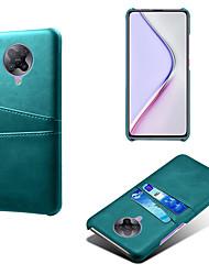 Недорогие -чехол для телефона для Xiaomi Redmi K30 / K30 Pro держатель карты против падения задняя крышка сплошной цвет искусственной кожи