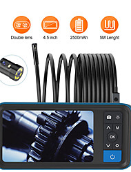 cheap -5M Pipe Sewer Inspection Camera 8MM Dual Lens 1080P Industrial Endoscope 4.5 Screen Waterproof Borescope Snake Camera with 6 LED