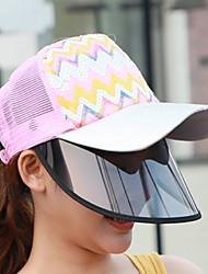Недорогие -Базовая защитная шапка для женщин из полиэстера / летняя садовая одежда / складная / пляжная / солнцезащитная шляпа Sun Hat Big Brim Бейсболка