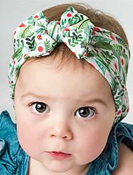 Недорогие -Ткань Хайратники Durag Для детской Бант Эластичность Назначение Новорожденный Праздники Стиль Активный Белый и желтый Синий / Белый Лиловый 1 шт.