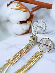 cheap -Women's Earrings Chandelier Fashion Alphabet Shape Diamond Statement Luxury European Fashion Modern Silver Earrings Jewelry Silver For Wedding Party Evening Gift Formal Festival 1 Pair / Star