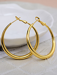 cheap -Women's Couple's Hoop Earrings Geometrical Wedding Birthday Romantic Sweet Cute French 18K Gold Filled Earrings Jewelry Gold For Halloween Party Evening Engagement Birthday Festival 1 Pair