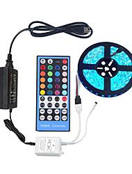 Недорогие -5м гибкие светодиодные полосы света комплекты светильников rgb tiktok 300 светодиодов smd5050 10мм 1 х 40 клавишный контроллер / 1 х 12В 5а блок питания 1 комплект светильники rgb tiktok