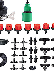 cheap -Lazy Automatic Watering Device 9/12 Capillary Tee Sprinkler Water Hose Quick Connector Joint Plug Red Cap Dripper Set