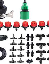 Недорогие -ленивый автоматический полив 9/12 капиллярный тройник разбрызгиватель шланг для воды быстрый разъем совместная пробка красная крышка капельницы