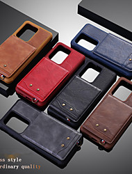 cheap -Case for Samsung scene graph Samsung Galaxy S20 S20 Plus S20 Ultra Solid color calf grain PU leather material card holder lanyard up and down open all-inclusive anti-fall mobile phone case KT