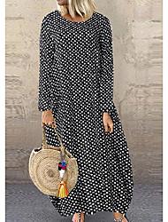 cheap -Women's White Black Dress Swing Polka Dot M L