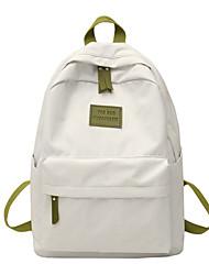 Недорогие -Большая вместимость Полиэстер Оксфорд Молнии рюкзак Сплошной цвет Повседневные Розовый / Зеленый / Синий