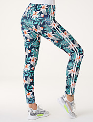 cheap -Women's high waist, belly closing, fashion, personalized, color printing, showing thin and small feet, sports bottoming pants