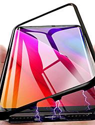 Недорогие -чехол для samsung galaxy s20 plus / s20 ultra / s20 противоударный / прозрачная задняя крышка из сплошного закаленного стекла / металлическая