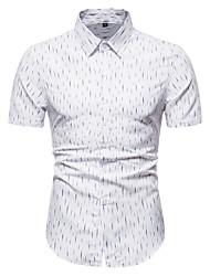 cheap -Men's Polka Dot Flame Print Shirt Business Elegant Party Club White / Black / Red / Short Sleeve
