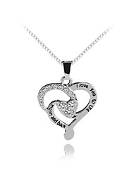 cheap -Women's Pendant Necklace Heart Letter Sweet Chrome Silver 45 cm Necklace Jewelry For Gift Daily Festival