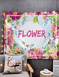 Недорогие -Дом жизнь розовый цветок гобелен гобелены гобелены стенное одеяло стены искусства декор стен тропический лист гобелен декор стен