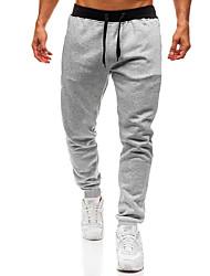 cheap -Men's Sporty / Basic Chinos / wfh Sweatpants Pants - Solid Colored Light gray Dark Gray Black US32 / UK32 / EU40 US34 / UK34 / EU42 US36 / UK36 / EU44