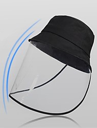 cheap -Full Face Protection Anti-fog Saliva Protective Hat Sun Protection Bike  Transparent UV Protection Face-blocking Hat Fisherman Hat