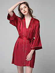 cheap -Normal Rayon Robes Touch of Sensation Solid Colored Party / Evening Lace-up Elegant