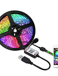 Недорогие -5м гибкие светодиодные полосы RGB TIKTOCK огни 150 светодиодов SMD5050 10 мм 2 х USB соединительная линия / контроллер Wi-Fi 1 комплект Хэллоуин / Рождество водонепроницаемый / USB / декоративные 5 В