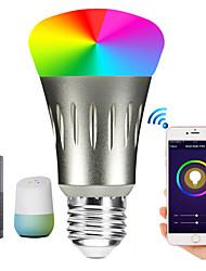 Недорогие -1шт 12 W Круглые LED лампы Умная LED лампа 700 lm E14 B22 E26 / E27 30 Светодиодные бусины Контроль APP Smart синхронизация Multi-цветы 85-265 V