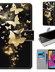 cheap -Case For Motorola Moto G8 Play / Moto G8 Plus / MOTO E6 plus Wallet / Card Holder / with Stand Full Body Cases Golden Butterfly PU Leather / TPU for MOTO E6 Play / MOTO G7 / MOTO G7 Plus