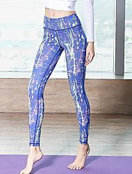 Недорогие -Спортивная одежда Йога Жен. На каждый день / Бег Полиэфир / Молочное волокно Узоры / принт / На эластичной ленте Средняя талия Брюки