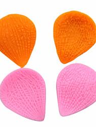 Недорогие -2шт помадка торт плесень листья лепестка жидкости силиконовые выпечки поделки