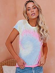 cheap -Women's Color Block Print T-shirt Daily Blushing Pink
