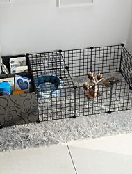 cheap -Dog Playpen Play House Fence Systems Foldable Washable Durable Free Standing Plastic Metal Black 19pcs