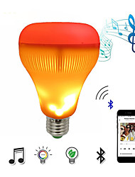 cheap -LED Music Speaker Light Bulb With Flame Effect Light RGB Changing Lamp Wireless Stereo Audio Lamp with Remote Control