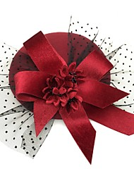 cheap -Net Fascinators with Flower 1 Piece Tea Party / Horse Race Headpiece