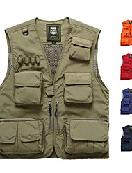 cheap -Men's Fishing Vest Vest / Gilet Windproof Rain Waterproof Breathability Hunting Fishing Sports & Outdoor / Nylon