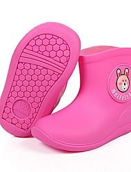 Недорогие -Девочки Резиновые сапоги ПВХ Ботинки Маленькие дети (4-7 лет) Желтый / Розовый / Синий Лето
