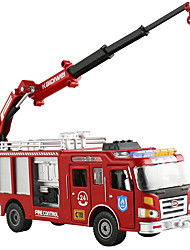 cheap -1:50 Metal Fire Engine Vehicle Toy Car Fire Engine All Boys' Girls' Child's Teenager Car Toys